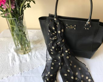 Chiffon - Women's Scarf - Black - Spring/Summer - Polka Dots - Spotty - Cream - Love - Dots - Fashion - Famous - Gift - Elegant/Classic
