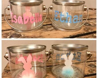Personalized Easter bunny pails
