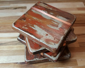 Coaster weathered browns with copper
