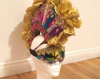 Mohawk/headdress/burning man/costume/rave/party