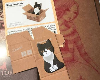 Cat Post-It Notes In Their Own Box