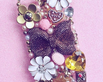 One off, Pre-made chocolate & sweets decoden phone case for the iPhone 5/5s