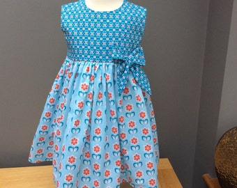 Pretty Blue Girls Dress