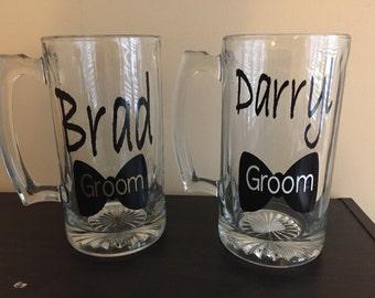 Personalized GROOM Beer Mug