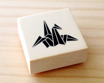 CLEARANCE SALE - Rubber stamp - Crane of the origami - The right direction