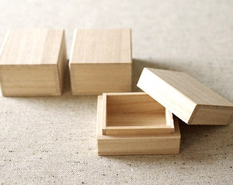 Clearance Sale - 3 pcs - Small wooden gift box - JAPANESE STYLE - E TYPE