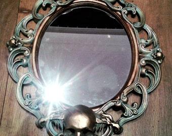 see no evil  ,gothic mirror,,oddity, death, skulls, macabre, vampire, mortuary, neovictorian