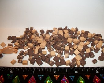 12 Dollhouse Miniature Caramel Swirl Nut & Chocolate Fudge Dessert Sweet Candy Food Fashion Size Doll 1:6 scale 952