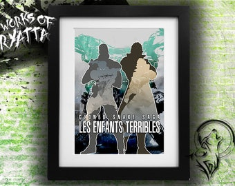Les Enfants Terribles; Metal Gear Solid Twin Snakes Art Print