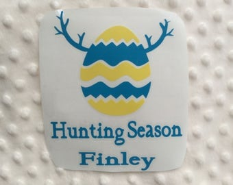 Custom Name Easter Decals egg hunting season Decal Only!