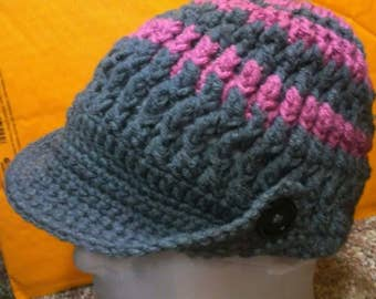 Beanie hat with visor