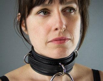 Premium Utility Leather Collar - BDSM
