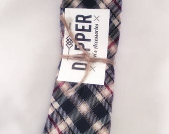 """Maroon, Tan, and  Forest green plad tie (2 1/4"""")"""