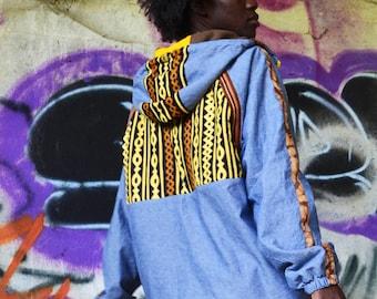 Unisex hooded tunic jacket