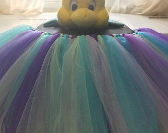 Under the Sea Little Mermaid Birthday Cake Smash Baby High Chair tutu