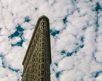 Flatiron Building with Clouds