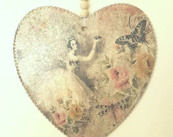 Heart vintage wall plaque