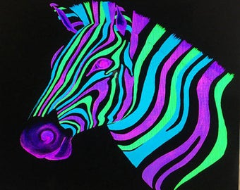 DISCO ZEBRA is a 24x24 giclee