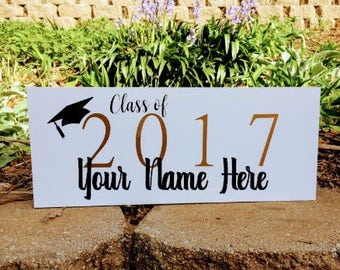 Class of 2017 Custom Wood Graduation Sign