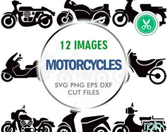 Motorcycle Svg, Motorcycle Clipart, Motorcycle Decal, Motorbike, Scooter Decal, Scrapbooking Die Cuts, Print And Cut, Svg File For Cricut