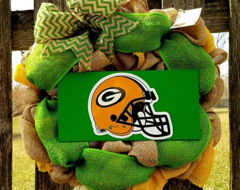 Green Bay Packers Wreath, Packers Wreath, Green Bay Wreath, Green Bay Packers Decor, Packers Decor, Football, Mancave, Packers, Green Bay