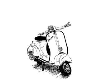 Illustration of a Vespa