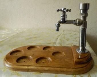 Handmade Wooden Whiskey / Vodka / Cognac / Liquor Dispenser