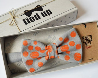 Basketball bow tie for men, Basketball bow tie for women, Basketball bow tie for kids.