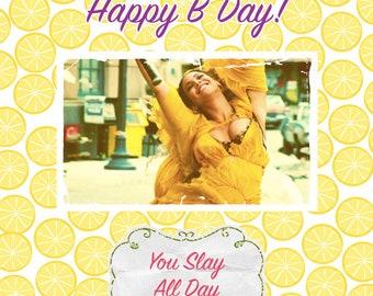 Beyonce Birthday Card