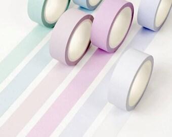 Macaron Rainbow Pastel Washi Tape Japanese Decorative Masking Adhesive Tape Diy Scrapbooking Tools Sticker Label