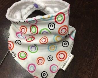 Baby Bandana Bib - Multicoloured Circles