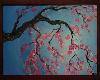 Cherry Blossom Acrylic Painting