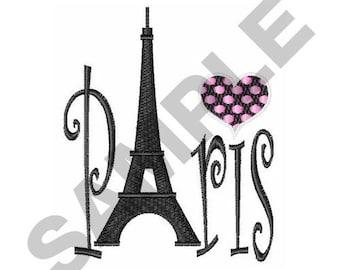 Paris - Machine Embroidery Design