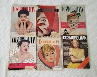 Vintage Cosmopolitan Magazines 1940s/1950s/1970s Lot