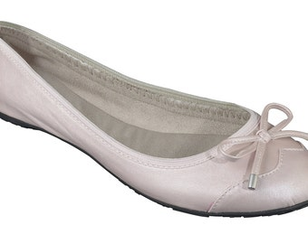Foldable ballet flats - champagne ballet flats, wedding flat, bridal party gift, bridal flat, wedding shoes, bridesmaid gift, gift for women