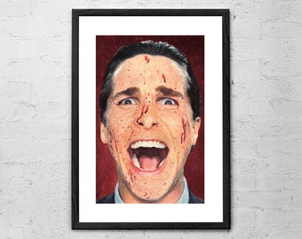 Patrick Bateman - American Psycho - Painting - Christian Bale - Movie Poster - Horror - American Psycho Poster - Horror Movie - Horror Art