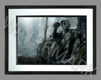 Star Wars Stormtrooper Scout . A3 Print . Poster