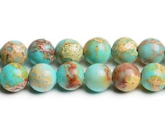 "15,5"" strand Aqua terra jasper aqua terra beads turquoise color bead turquoise jasper 8 mm snakeskin beads snakeskin jasper aqua terra stone"