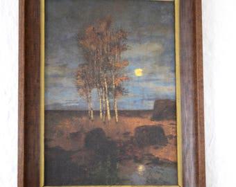 Vintage Tree Art, Vintage Nature Art, Vintage Framed Art, Vintage Art, Framed Artwork, Vintage Wall Decor, Boho Art, Boho Wall Decor