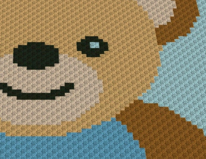 C2c Crochet Blanket Or Rug Pattern Teddy Bear Crochet