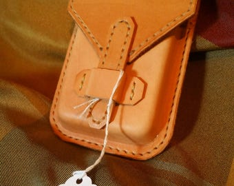 Belt Pouch Full Grain Leather Cell Case