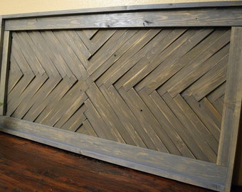 Reclaimed Wood Wall Art- Weathered Grey - Mosaic Art- Geometric Art- Decort- Geometric Art- Decor