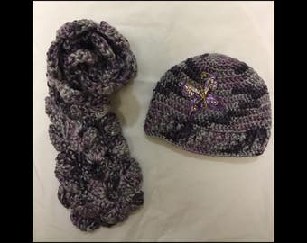 Infant (3 - 6 months) Scarf and Beanie Set