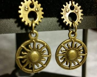 Steampunk Sun Earrings