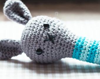 Rattle, rattle, Bunny, bunnies, Häkeltier, crochet Bunny