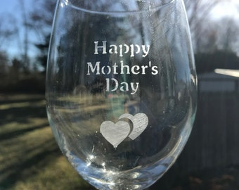 etched mothers day glass etched wine glass day gifts gifts for her - Etched Wine Glasses