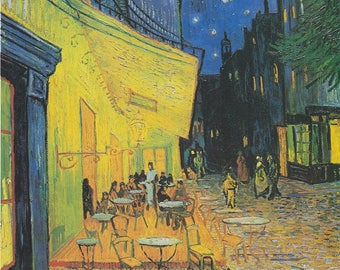 Café Terrace at Night -Van Gogh Oil Painting Musuem Quality Reproduction