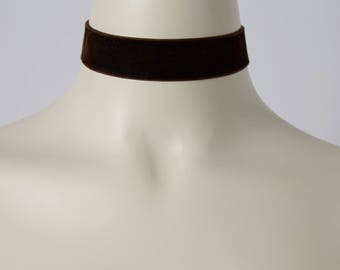 Brown Velvet Choker