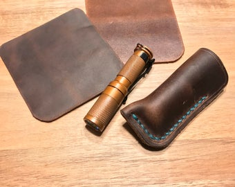 Maratac AAA Flashlight leather case - Horween leather - EDC