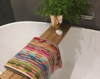 3 Panel Tasmanian Oak Bath Caddy